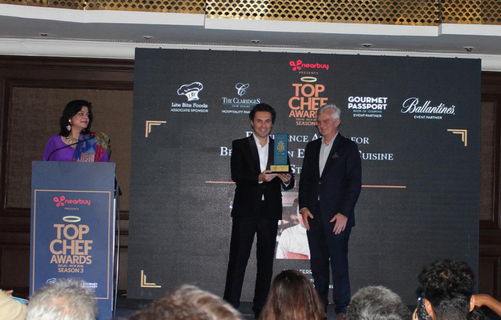 Luigi Ferraro riceve il Top Chef Awards 2016