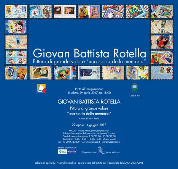 Giovan Battista Rotella: il maestro in mostra al MACA, dal 29 Aprile al 4 Giugno