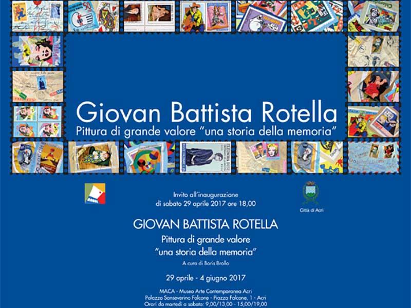 Giovan Battista Rotella: il maestro in mostra al MACA