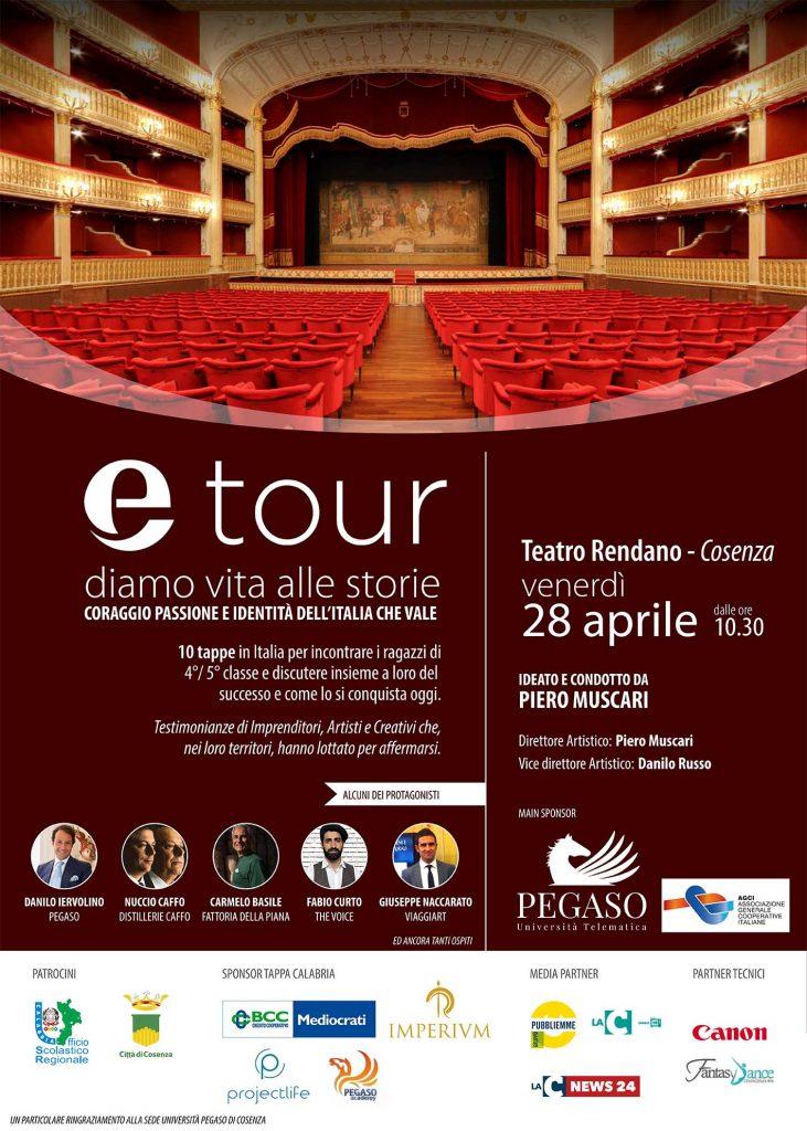 Locandina di Etour, il tour delle Eccellenze italiane nei teatri