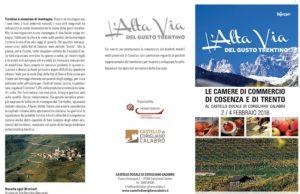 Eccellenze Italiane: Trento e Cosenza firmano il protocollo di intesa per valorizzare i territori, favorire il dialogo istituzionale, promuovereeccellenzee produzioni tipich