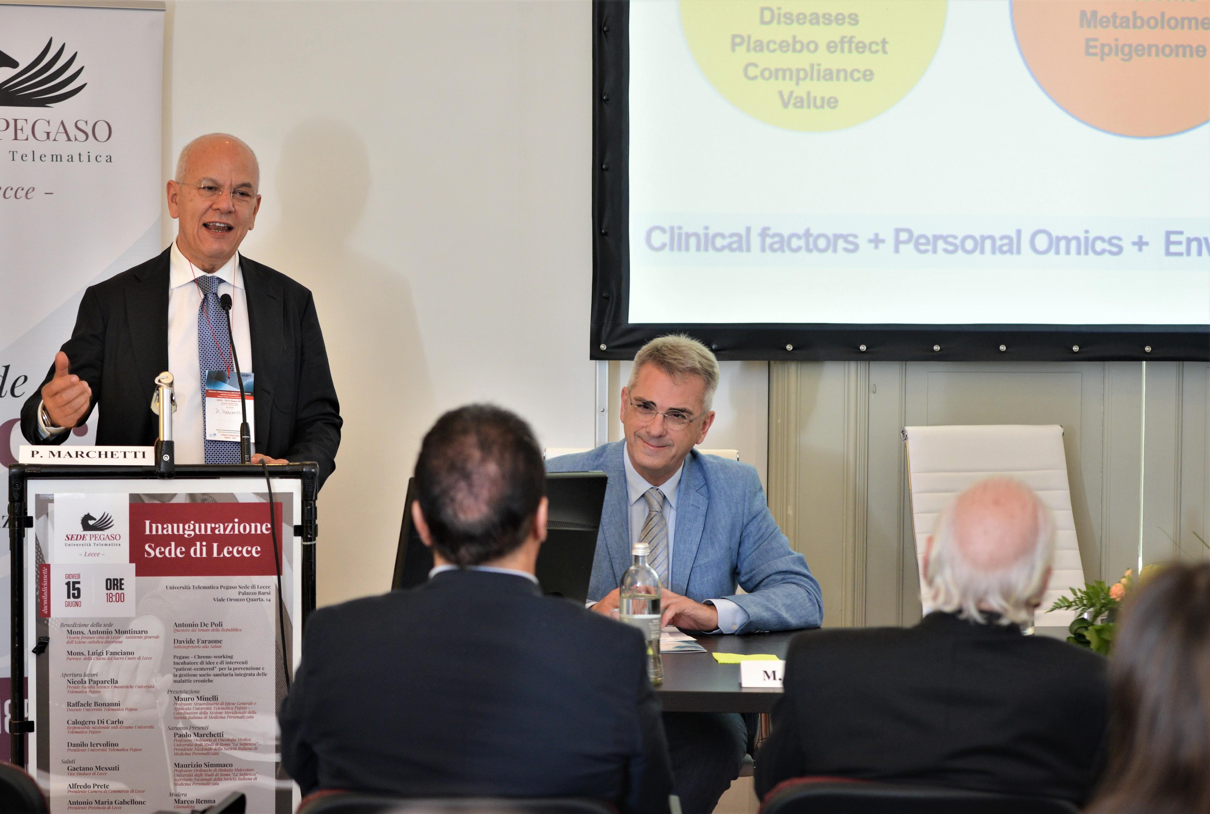 Prof. Maolo Marchetti - Professore Ordinario di Oncologia Medica - Sapienza Università di Roma. Presidente SIMeP