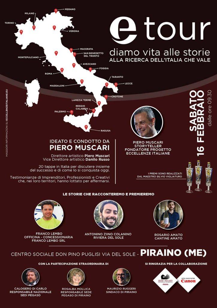 Locandina tappa Etour 2019 Piraino