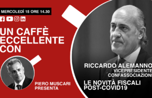 Un caffè eccellente con…Riccardo Alemanno. Live di mercoledì 15 Aprile, ore 14-30.