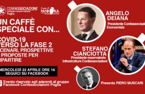 Un caffè speciale con…. Angelo Deiana e Stefano Cianciotta. Covid-19, verso la fase 2: scenari, prospettive e proposte per ripartire